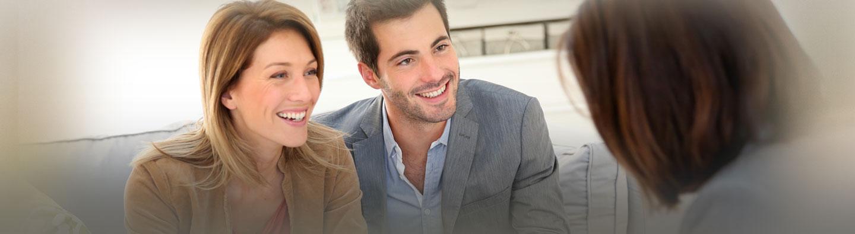 young couple seeking consultation