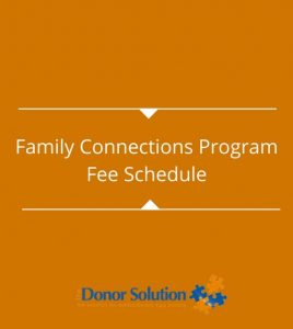 Family Connections ProgramFee Schedule