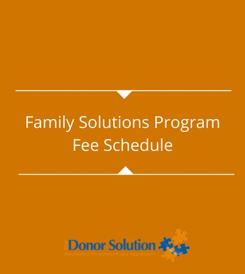 Family Solutions ProgramFee Schedule