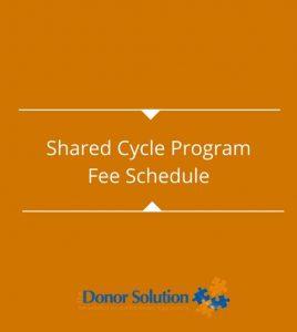 Shared Cycle ProgramFee Schedule