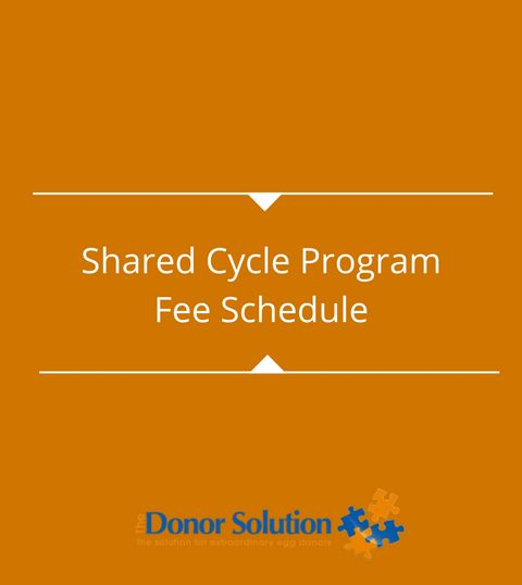 Shared Cycle ProgramFee Schedule
